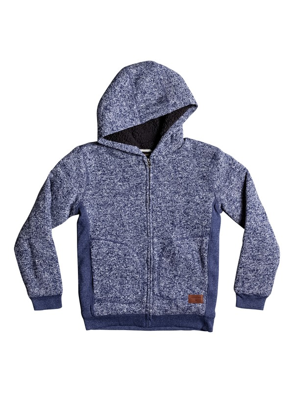 0 Keller Sherpa - Zip-Up Polar Fleece Hoodie for Boys 8-16  EQBFT03395 Quiksilver
