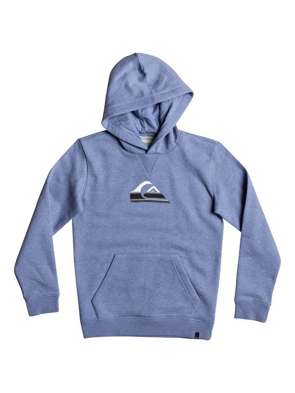 0 Boy's 8-16 Big Logo Hoodie Blue EQBFT03396 Quiksilver
