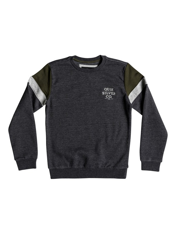 0 Kumano Kodo - Sweatshirt for Boys 8-16 Black EQBFT03451 Quiksilver