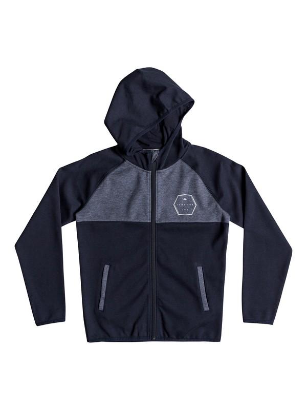 0 Izu Sula - Bonded Zip-Up Hoodie for Boys 8-16 Blue EQBFT03452 Quiksilver