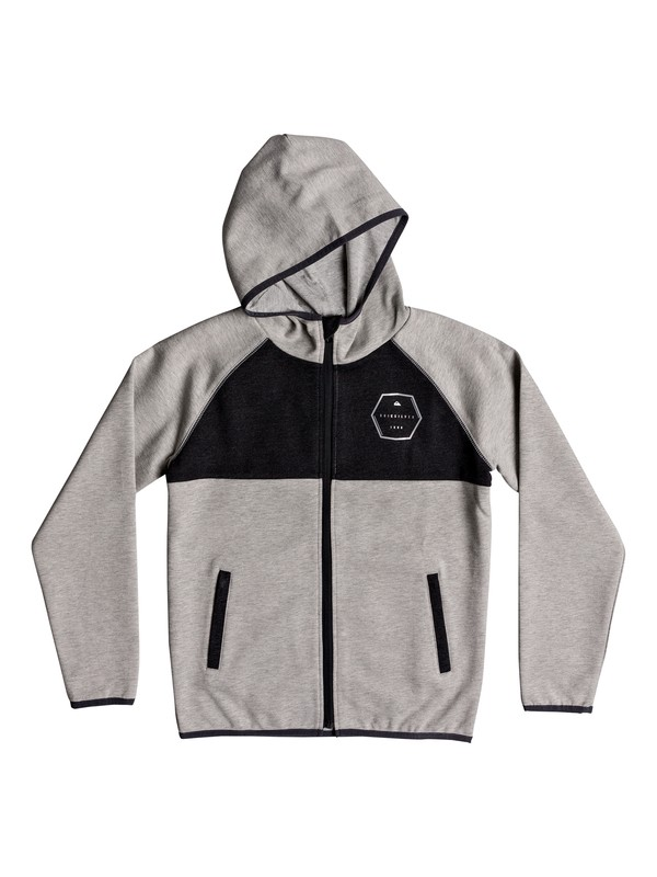0 Izu Sula - Bonded Zip-Up Hoodie for Boys 8-16 Gray EQBFT03452 Quiksilver