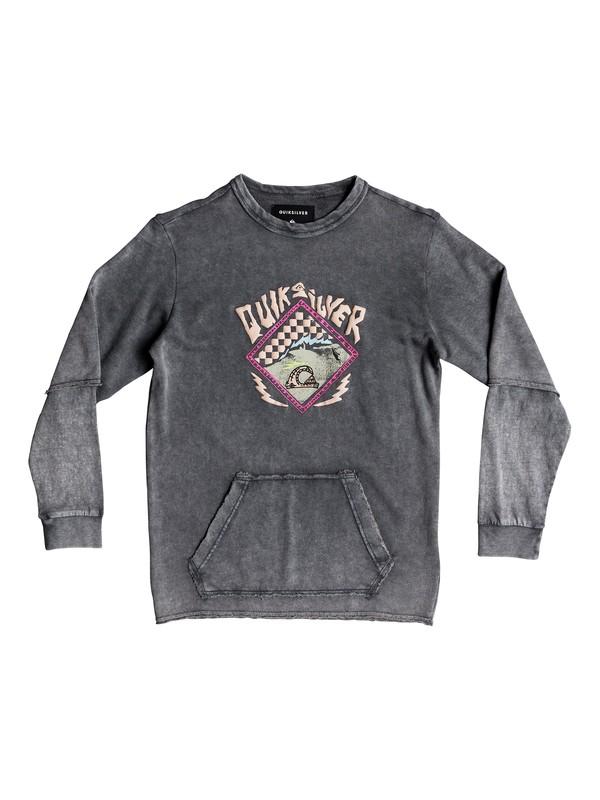0 HB Checks - Sweatshirt für Jungen 8-16 Schwarz EQBFT03454 Quiksilver