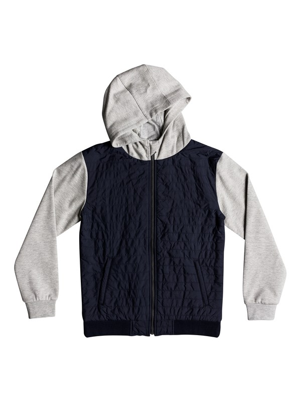 0 Leno Bay Flacket ZipUp Hooded SweaTee Blue EQBFT03458 Quiksilver