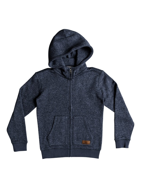 0 Keller Zip Hooded Fleece Blue EQBFT03464 Quiksilver