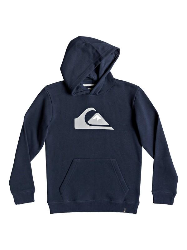 0 Big Logo - Sudadera con capucha para Chicos 8-16 Azul EQBFT03468 Quiksilver