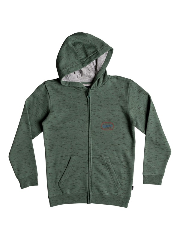 0 Living On The Edge - Sudadera con capucha y cremallera Azul EQBFT03470 Quiksilver
