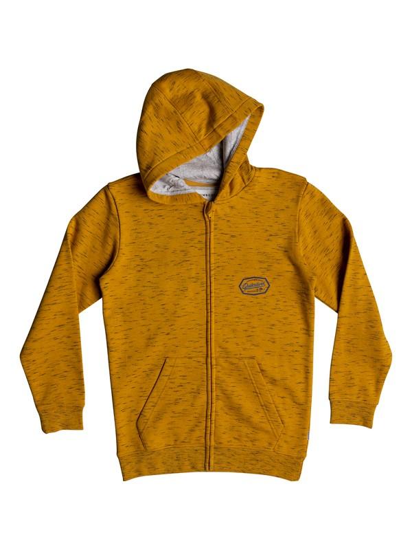 0 Living On The Edge - Sudadera con capucha y cremallera para Chicos 8-16 Naranja EQBFT03470 Quiksilver