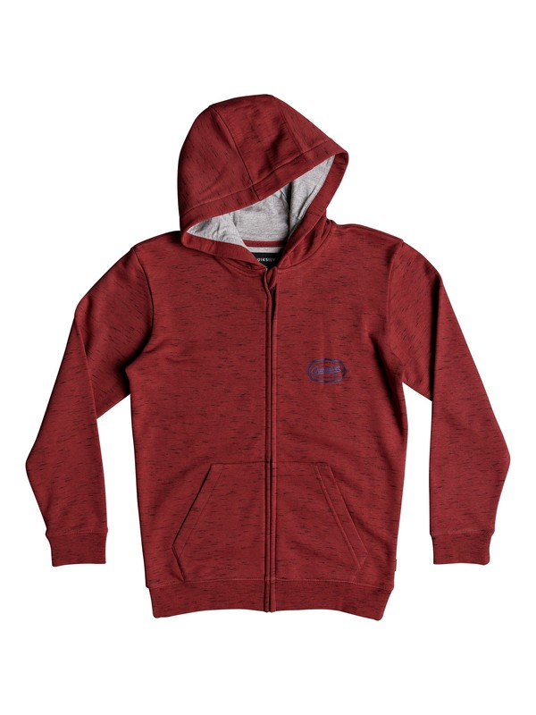 0 Living On The Edge - Sweat à capuche zippé pour Garçon 8-16 ans Rouge EQBFT03470 Quiksilver