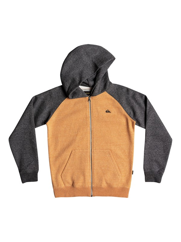 0 Everyday - Sweat à capuche zippé pour Garçon 8-16 ans Orange EQBFT03472 Quiksilver