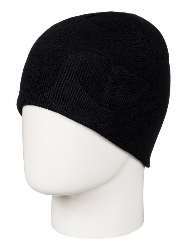 0 M&W - Bonnet réversible pour Garçon 8-16 ans Noir EQBHA03017 Quiksilver