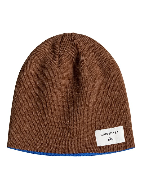 0 Reversible - Reversible Beanie for Boys 8-16 Brown EQBHA03021 Quiksilver