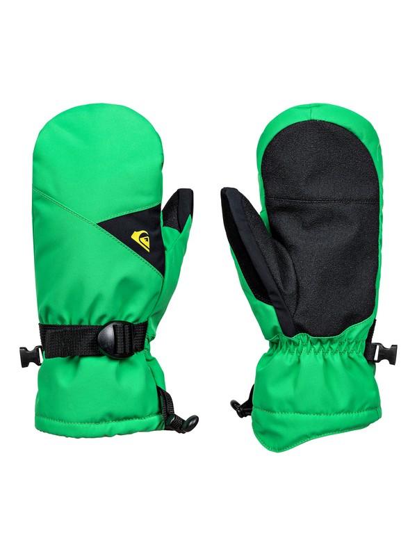 0 Mission - Snowboard/Ski Gloves for Boys 8-16 Green EQBHN03013 Quiksilver
