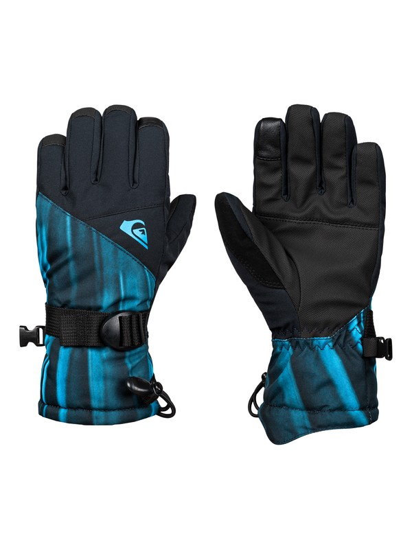 0 Boy's 8-16 Mission Snowboard/Ski Gloves Blue EQBHN03023 Quiksilver