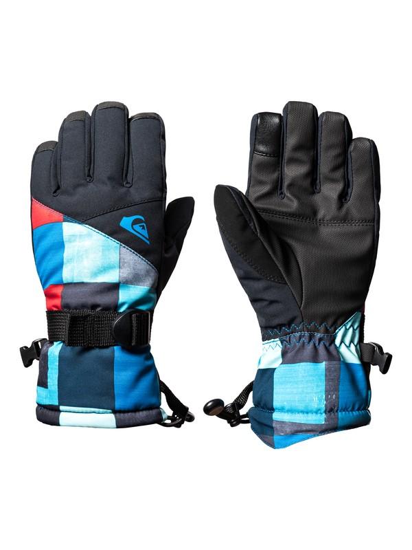 0 Mission - Gants de ski/snowboard pour Garçon 8-16 ans Bleu EQBHN03023 Quiksilver