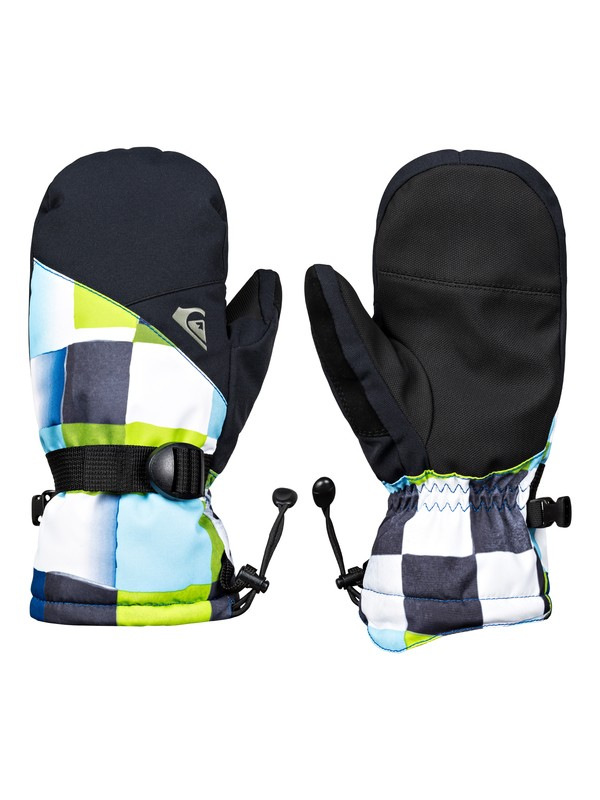 0 Mission - Ski/Snowboard Mittens for Boys 8-16 Green EQBHN03024 Quiksilver