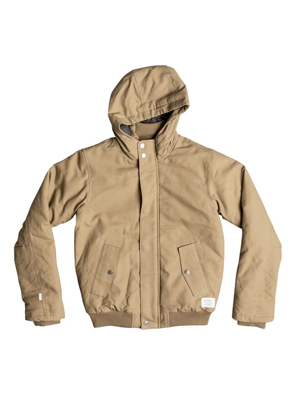 0 Brooks DWR - Jacket Beige EQBJK03072 Quiksilver