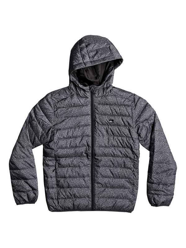 0 Boy's 8-16 Scaly Water-Repellent Insulated Jacket Black EQBJK03124 Quiksilver