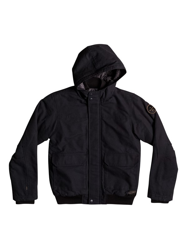 0 Boy's 8-16 Brooks Island DWR Water-Repellent Hooded Bomber Jacket Black EQBJK03125 Quiksilver