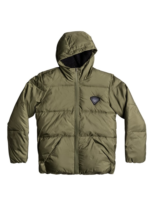 0 Sweet Yana Ki - Water-Repellent Puffer Jacket Green EQBJK03135 Quiksilver