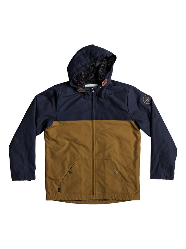 0 Wanna DWR - Water-Repellent Hooded Jacket for Boys 8-16  EQBJK03136 Quiksilver