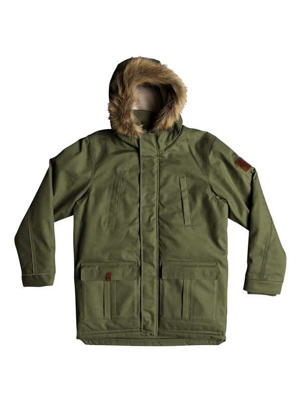 0 Tottori - Waterproof Hooded Parka for Boys 8-16 Green EQBJK03151 Quiksilver