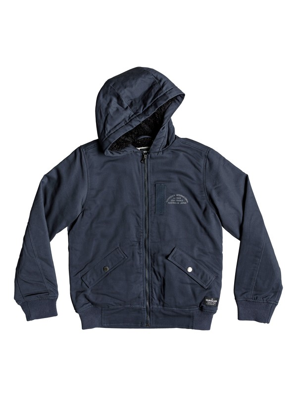 0 Hana Go - Water-Resistant Hooded Jacket for Boys 8-16 Blue EQBJK03155 Quiksilver