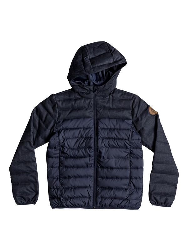 0 Scaly Mix - Water-Resistant Hooded Insulator Jacket for Boys 8-16 Blue EQBJK03156 Quiksilver