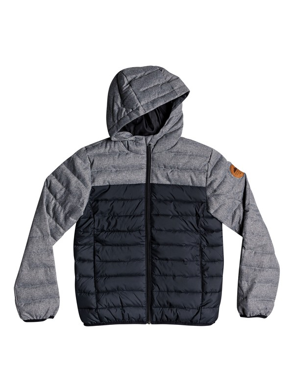 0 Scaly Mix - Water-Resistant Hooded Insulator Jacket for Boys 8-16 Black EQBJK03156 Quiksilver