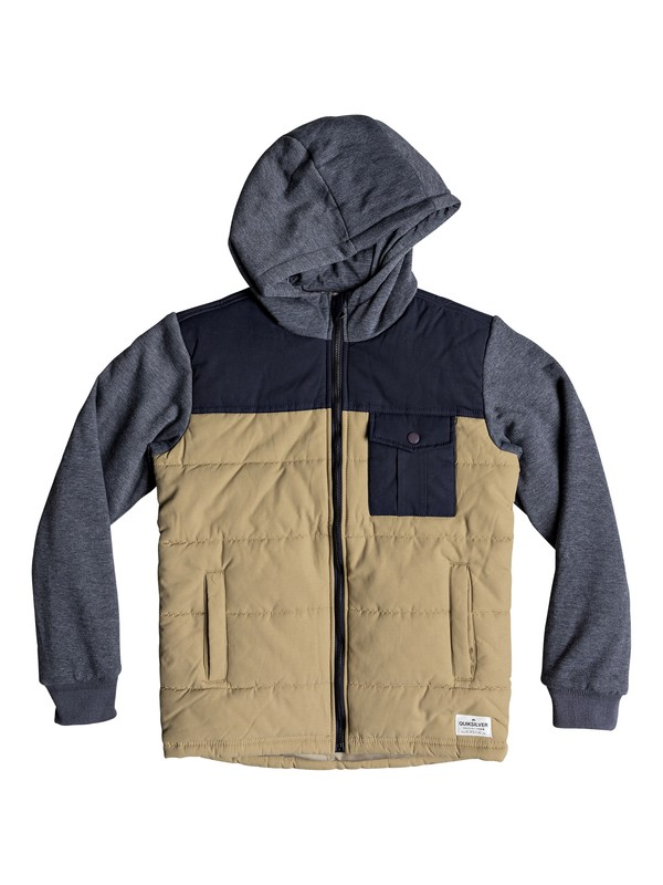 0 Oha You - Hooded Jacket for Boys 8-16 Brown EQBJK03157 Quiksilver