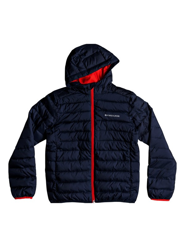 0 Scaly - Water-Resistant Puffer Jacket for Boys 8-16 Blue EQBJK03161 Quiksilver
