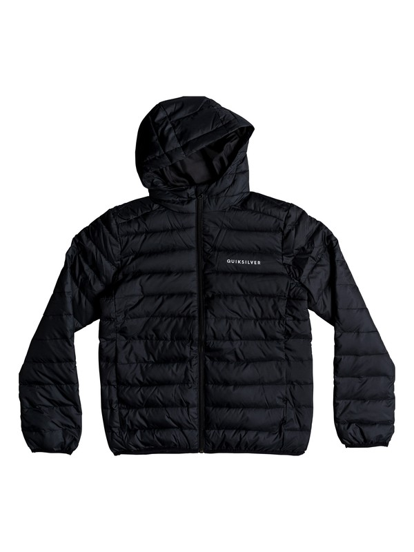 0 Scaly - Water-Resistant Puffer Jacket for Boys 8-16 Black EQBJK03161 Quiksilver
