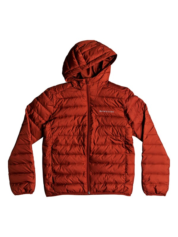 0 Scaly - Water-Resistant Puffer Jacket for Boys 8-16 Red EQBJK03161 Quiksilver