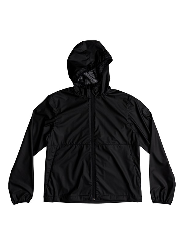 0 Boy's 8-16 Kamakura Rains Hooded Raincoat Black EQBJK03168 Quiksilver
