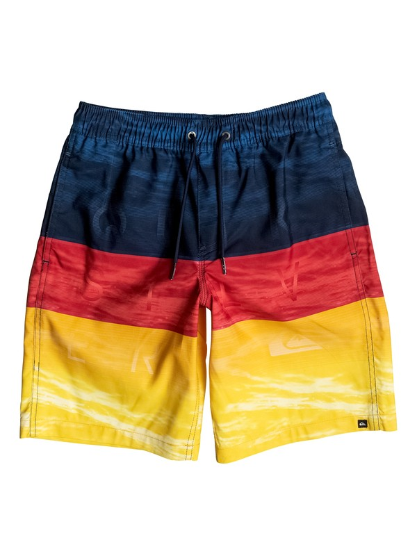 "0 Boy's 8-16 Word Waves 17"" Volley Boardshorts  EQBJV03100 Quiksilver"