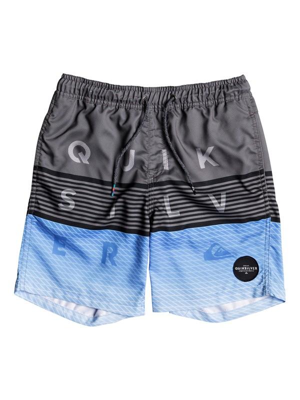 """0 Word Block 15"""" - Swim Shorts for Boys 8-16 Black EQBJV03136 Quiksilver"""