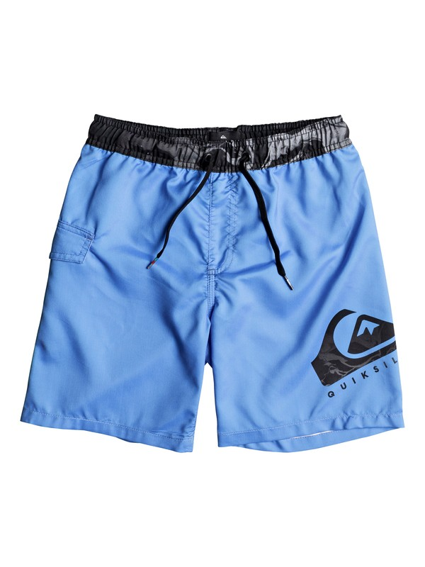 "0 Lava Logo 15"" - Swim Shorts for Boys 8-16 Blue EQBJV03137 Quiksilver"