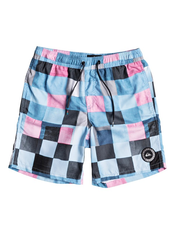 "0 Resin Check 15"" - Swim Shorts Blue EQBJV03139 Quiksilver"