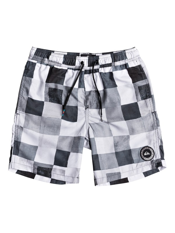"0 Resin Check 15"" - Swim Shorts for Boys 8-16 Black EQBJV03139 Quiksilver"