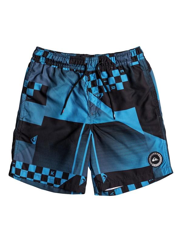 """0 Checker 15"""" - Swim Shorts Blue EQBJV03142 Quiksilver"""