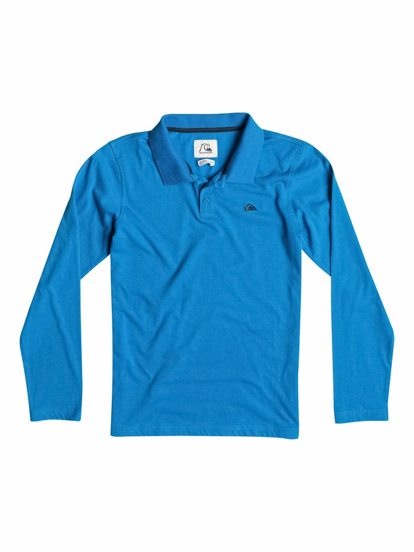 0 Moss Side - Long Sleeve Polo Shirt  EQBKT03027 Quiksilver