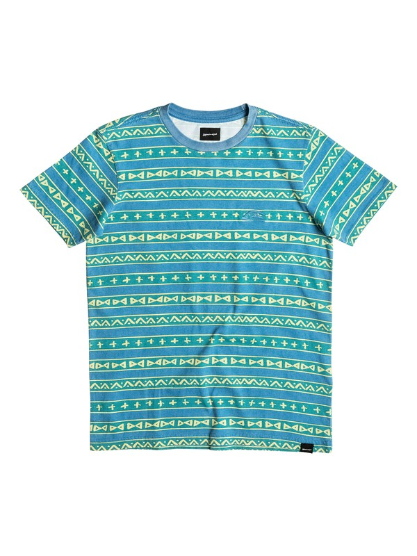 0 Gone Tribal - T-Shirt Rash Vest Yellow EQBKT03116 Quiksilver