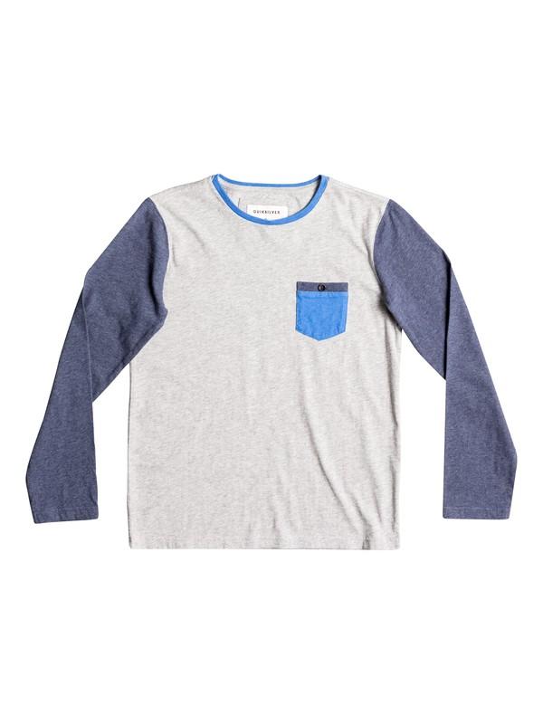 0 Boy's 8-16 Baysic Long Sleeve Tee  EQBKT03136 Quiksilver