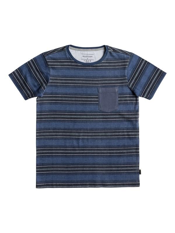 0 Bayo - Camiseta con Bolsillo para Chicos 8-16 Azul EQBKT03174 Quiksilver