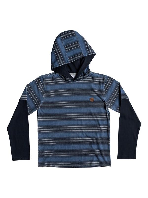 0 Boys 8 -16 Haleiwa Hooded Long Sleeve Tee  EQBKT03175 Quiksilver