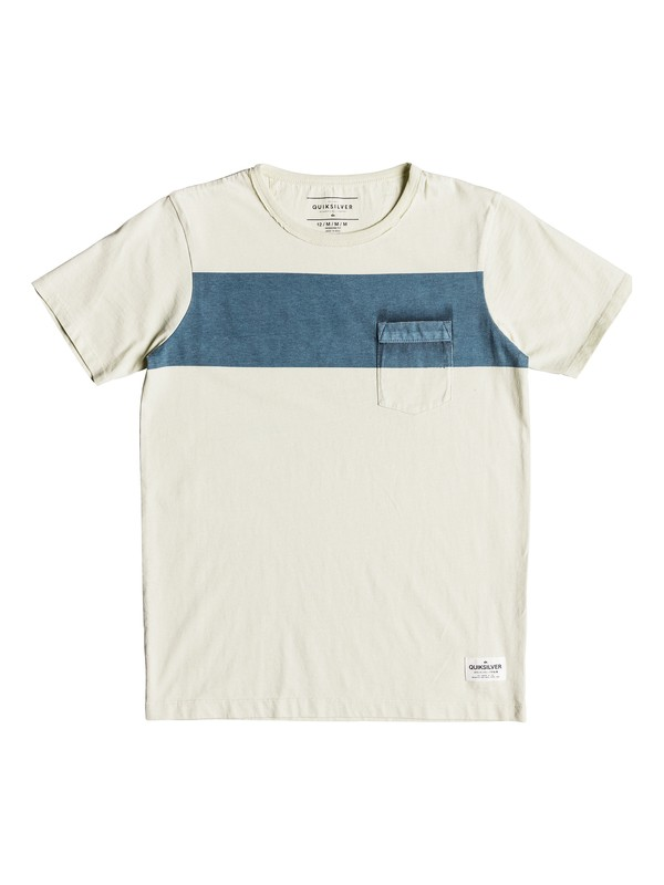 0 Sobu Lines - T-shirt col rond Bleu EQBKT03187 Quiksilver