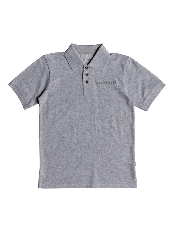 0 Boy's 8-16 Tori Pass Short Sleeve Polo Shirt Grey EQBKT03189 Quiksilver