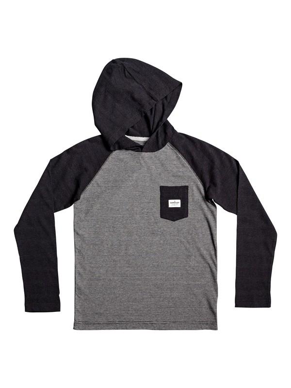 0 Boy's 8-16 Michi Long Sleeve Hooded Top Black EQBKT03204 Quiksilver