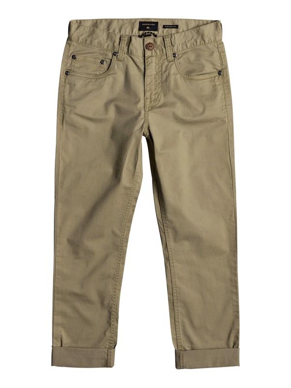 0 Midnight Ankle - Pantalon coupe droite Beige EQBNP03063 Quiksilver