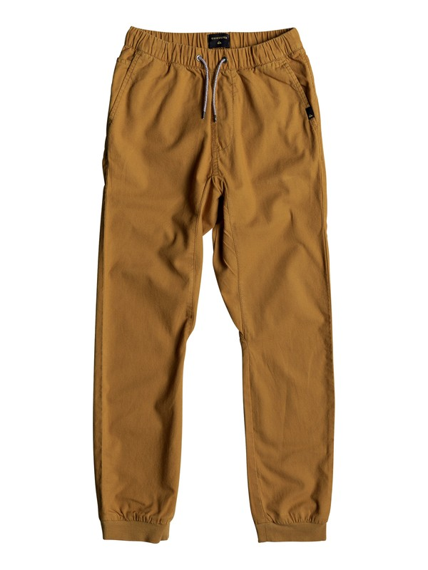 0 Wapu - Joggers for Boys 8-16 Brown EQBNP03064 Quiksilver