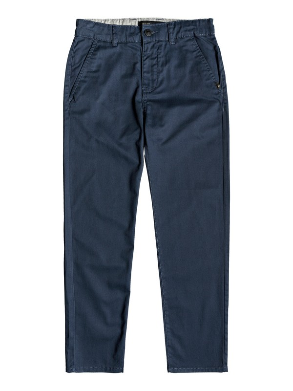 0 Everyday Union Straight Fit Chinos Azul EQBNP03065 Quiksilver